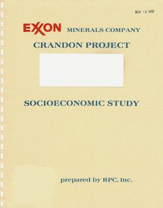 Definition of the local study area : socioeconomic assessment, Exxon Crandon Project