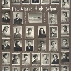 1960 New Glarus High School graduating class
