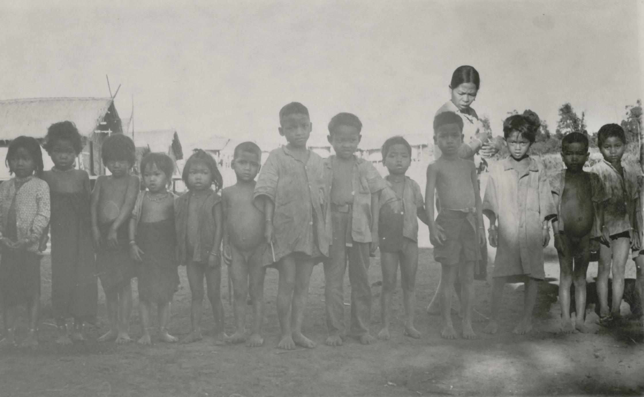 Nyaheun children in a village in Attapu Province