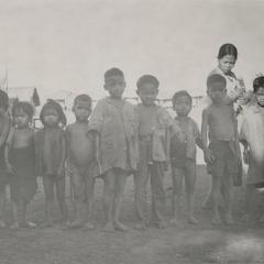 Nyaheun children in a village in Attapu Province