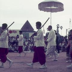 King of Laos at festival