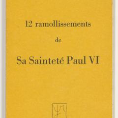 12 ramoillissements de Sa Sainteté Paul VI