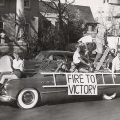 1953 Homecoming Parade float