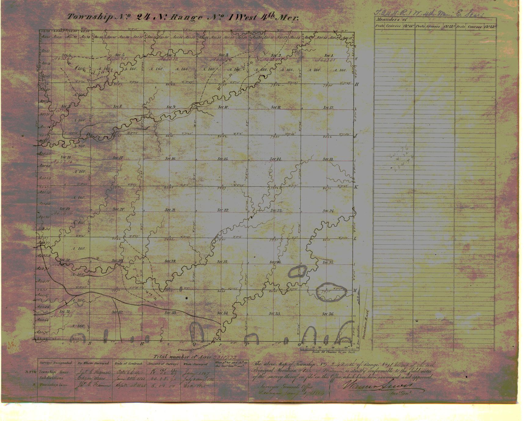[Public Land Survey System map: Wisconsin Township 24 North, Range 01 West]