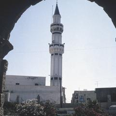 Minaret of Gurgi Mosque Seen Through Roman Arch of Marcus Aurelius (Circa 200 A.D.)