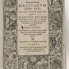 Disquisitionum magicarum libri sex engraved title page