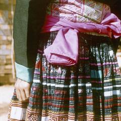 A Blue Hmong (Hmong Njua) skirt in Houa Khong Province