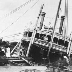 Close up view of the sunken Quincy