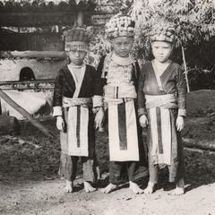 Three White Hmong girls in Houa Khong Province