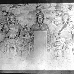 Sculptures of Liu Bei 劉備, Guan Yu 關羽 and Zhang Fei 張飛.