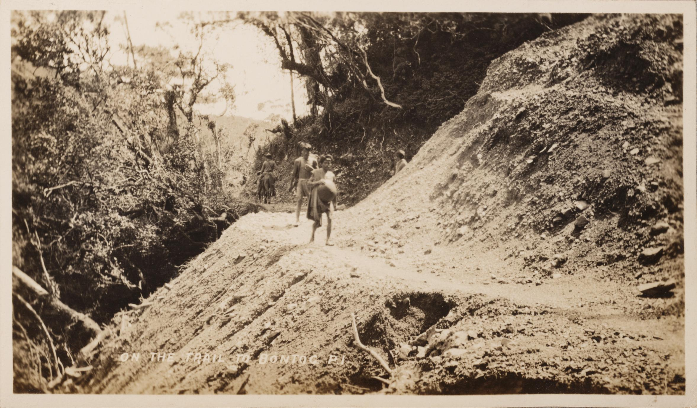 On the trail to Bontoc, P.I.