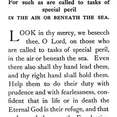 Prayer for such as are called to tasks of special peril in the air or beneath the sea