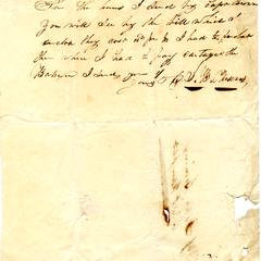 Note from J.B. Parsons to Felix Dominy, Aug. 17, 1830