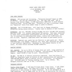 [Notes from the Great Lakes Deer Group Annual Meeting, 1985]