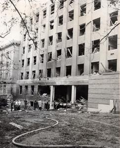 Bombing damage to Sterling Hall