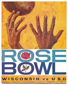 Rose Bowl program, 1963