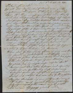 [Letter from Anton Klenert to his friend, Jakob Steinberger, September 2, 1853]
