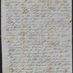 [Letter from Anton Klenert to his friend, Jakob Steinberger, September 2, 1853]
