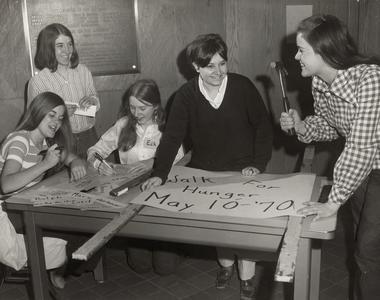 Preparing for the Hunger Walk, Manitowoc, May, 1970
