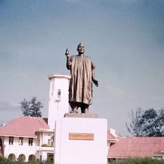 Statue of Former President Azikiwe at Denis Memorial Grammar School in Onitsha