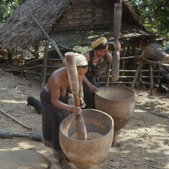 Pounding rice