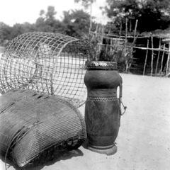 Fish Trap and Basket Next to Bulup Drum in Kuba-Shoowa Village