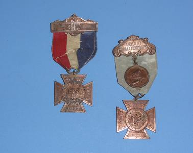 Two Civil War Woman's Relief Corp medals
