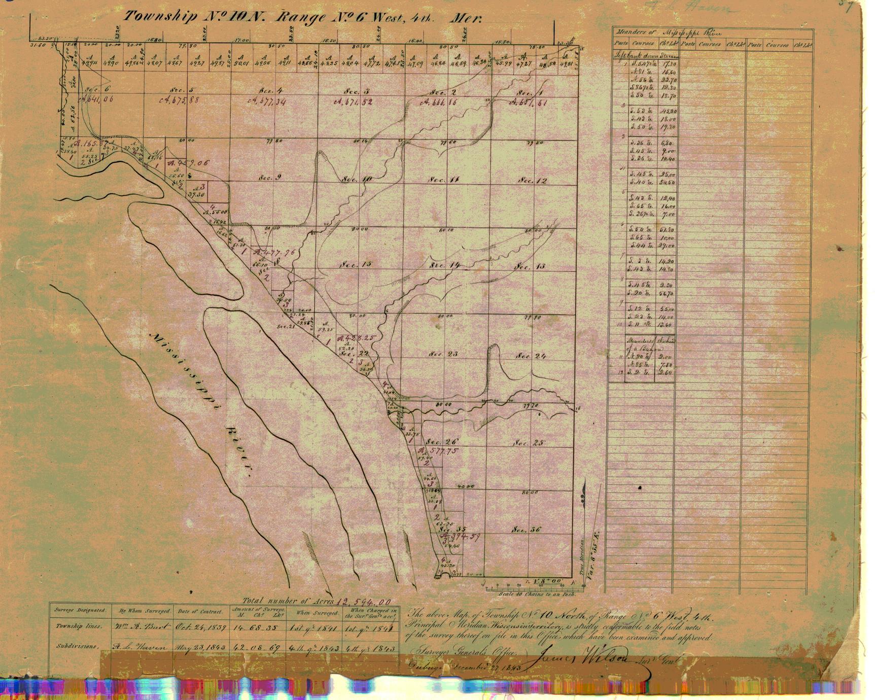[Public Land Survey System map: Wisconsin Township 10 North, Range 06 West]