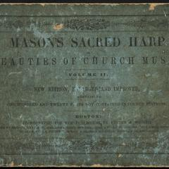 Sacred harp, or, Beauties of church music : a new collection of psalm and hymn tunes, anthems, motetts, sentences and chants
