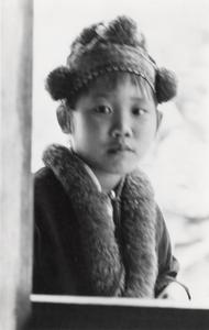 A Yao (Iu Mien) girl in traditional dress in Houa Khong Province