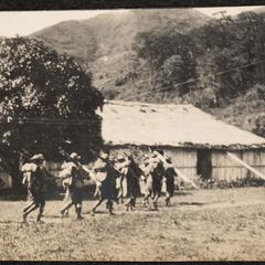 Ifugao soldiers arriving at Bontoc