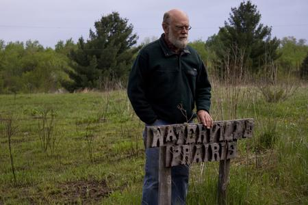Marlin Johnson at Waterville Prairie at the Field Station
