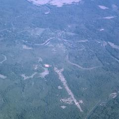 Aerial photograph of enemy occupied airstrip
