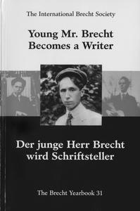 Young Mr. Brecht becomes a writer