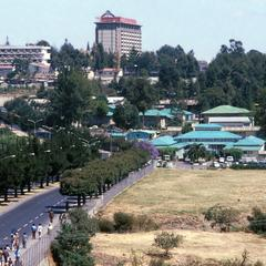 View of Addis Ababa Showing Hilton Hotel and Ministry of Foreign Affairs