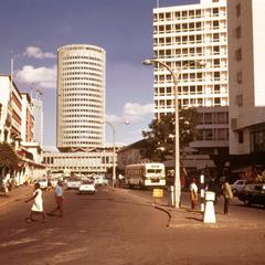 Downtown Nairobi with View of  Hilton Hotel