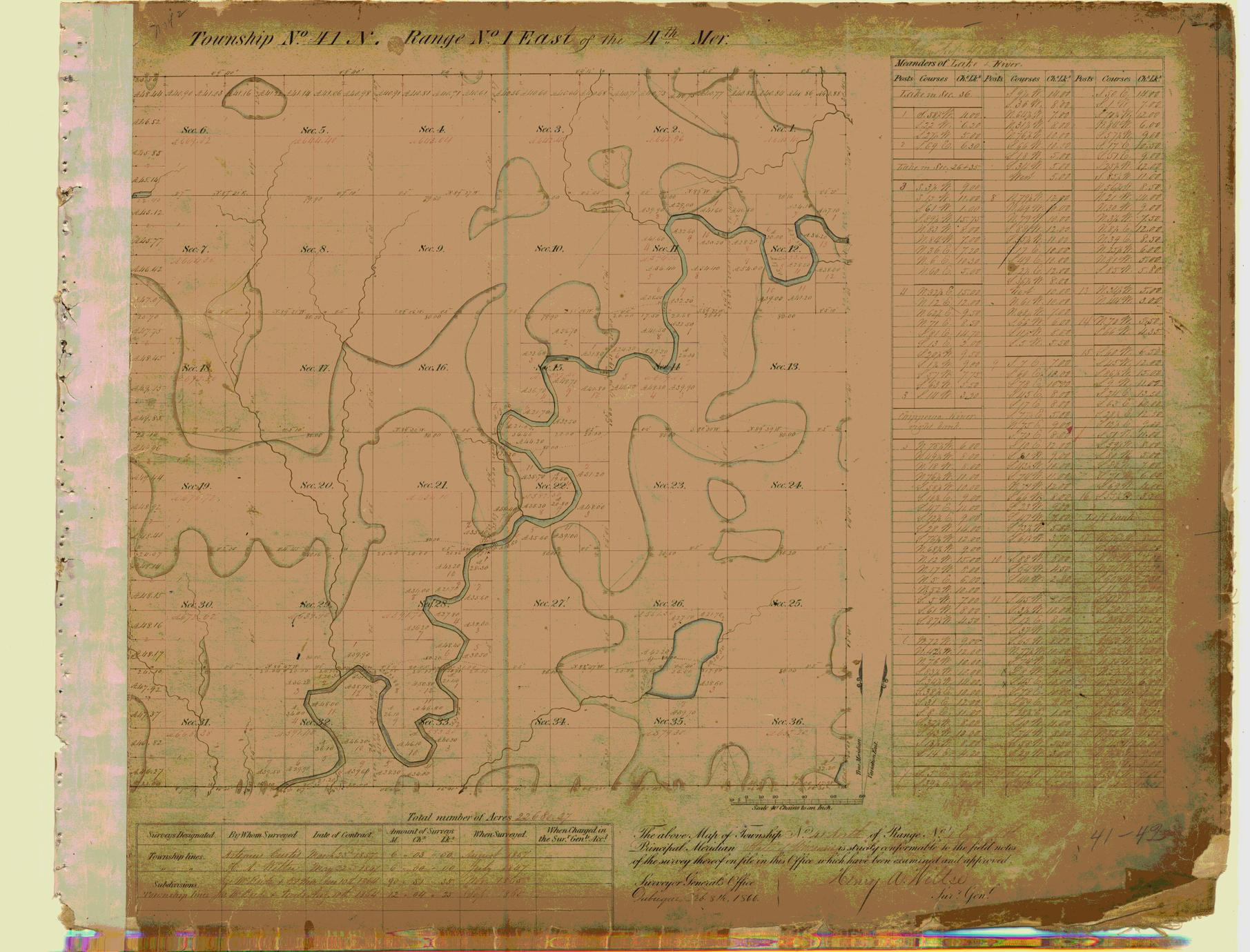 [Public Land Survey System map: Wisconsin Township 41 North, Range 01 East]