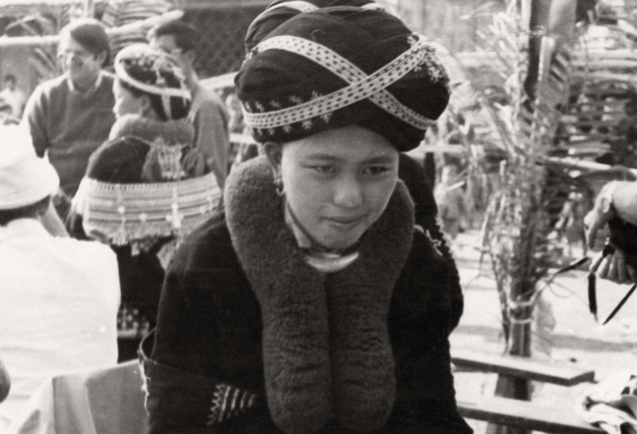 A Yao (Iu Mien) woman in traditional clothing in the village of Nam Kheung in Houa Khong Province
