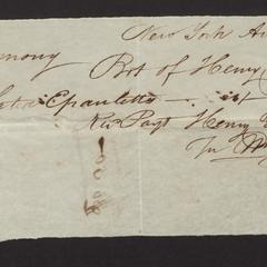 Bill from Henry Young, New York, Aug. 22, 1827