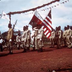 Militia Parading before President Tubman