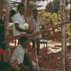 Weaving with a Mandingo-Gbande Loom