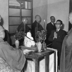 The Buddhist tonsure ceremony.