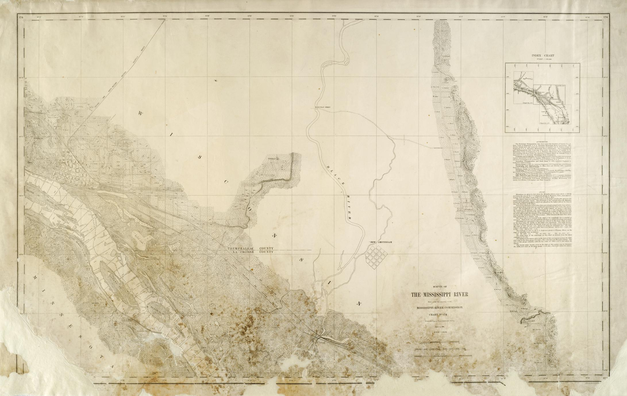 Survey of the Mississippi River, Chart 174