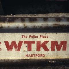 WTKM polka station bumper sticker