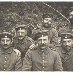 [Group portrait of comrades-in-arms]