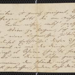 [Letter from Kajetan Sternberger to his brother, Jakob Sternberger, ca. May 1853]