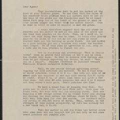 [Letter from Otto Hussa to Agnes Sternberger Husting, October 4, 1937]
