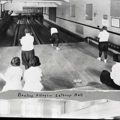 Lathrop Hall bowling alley