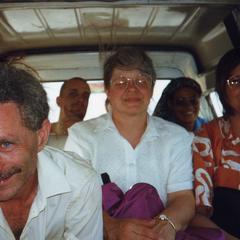 Group seated in van