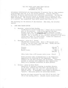 [Notes from the Great Lakes Deer Group Annual Meeting, 1981]